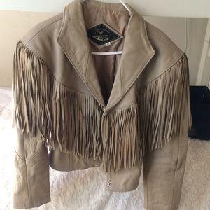 Jackets & Blazers - Cevy's Fringe Shoulder Leather Jacket